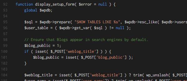 Dark (Visual Studio) テーマでの配色